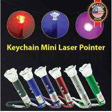 Keychain Mini Laser Pointer LED Flashlight Torchlight Cat Laser