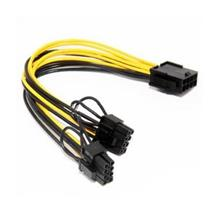 CPU 8pin Female to Dual PCI-E 6p+2p Male Power Cable for Graphics Card