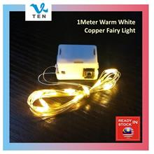 1M/2M Copper Wire Battery Operated LED Fairy Light Decoration Lampu