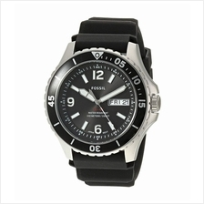 FOSSIL FB-02 Black Dial Silicone Strap Quartz FS5689 Men's Watch