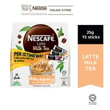 NESCAFE Latte Milk Tea 15 Sticks 25g, Free 3 Sampling Sachet