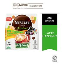 NESCAFE Latte Hazelnut 20 Sticks 24g, Free 3 Sampling Sachet