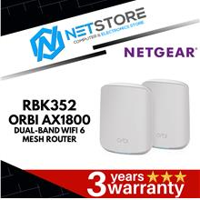 NETGEAR ORBI WHOLE HOME DUAL BAND MESH Wi-Fi 6 AX1800 ROUTER (RBK352)