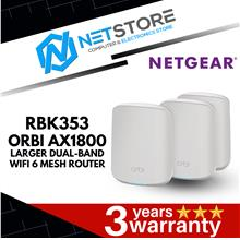 NETGEAR ORBI LARGER DUAL BAND MESH AX1800 WiFi 6 ROUTER (RBK353)