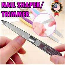 Stainless Steel Nail Shaper File Buffer Double Side Manicure Pedicure