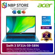 Acer Swift 3 SF314-59-5896 14'' FHD Laptop Aqua Blue