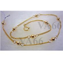 14k Gold Filled Anklet with Bali Beads Simple and Elegant Suasa