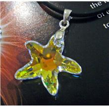 Swarovski Strass - #8818 20mm Starfish Necklace Crystal 925 Sterling
