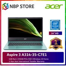 Acer Aspire 3 A314-35-C7E1 14'' Laptop Electric Blue