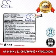 Original CS Tablet Battery ACB750SL Acer Iconia One 7 B1-750 Battery