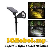 Solar LED Light Garden Yard Spotlight Waterproof Landscape Lamp