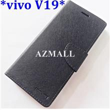"Card Stand Fancy Diary Case Flip Cover for vivo V19 (6.44"")"