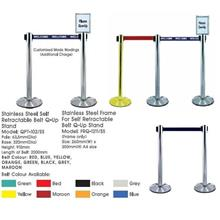 QPT102SS Rectractable Q-Up Stand Pole:63.5mmD Base:320mmD Height:910mm