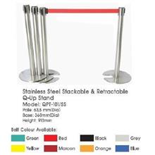 QPT101SS Stack Rectract Q-Up Stand Pole:63mmD Base:360mmD Height:910mm