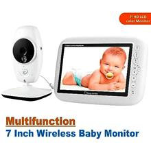 7 Inch Night Vision Baby Monitor With 2 Way Audio (WBM-06A).