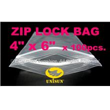 "ZIP LOCK BAG 4"" x 6"" x 100 pcs. ONLINE PROMO Resealable PP Plastic Bag"