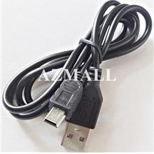 1M 1 Meter Mini USB Mini-B 5-Pin Data Cable PS3 Controller GPS Car Cam