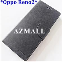 "Card Slot Stand Fancy Diary Case Flip Cover Oppo Reno2 Reno 2 (6.5"")"