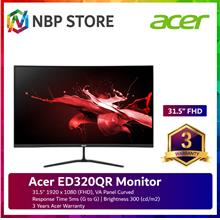 Acer ED320QR 31.5'' FHD Curved Monitor ( HDMI, DP, 3 Yrs Wrty )
