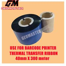 GM Barcode Wax Ribbon 40mm x 300M for Thermal Transfer Printer Label Tag Print