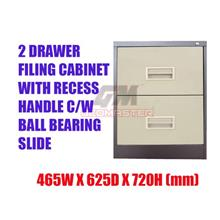 2 Drawers Metal Filing Cabinet With Lock