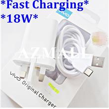(18W) 2in1 Charger+Type C USB Cable vivo vivo Y31 Y51 S1 Pro V17 V19