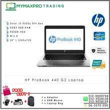 HP Probook 440 G2 Intel i5-5200u 2.2GHz 8GB 500GB HDD Win8 Laptop