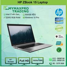 HP ZBook 15 Intel i7 4th Gen 8GB RAM 500GB HDD Quadro K610m Win10Pro