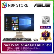 "Asus Vivo V222F-AKWA135T 21.5 "" FHD All-In-One Desktop PC White"