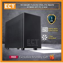 Tecware Fusion Steel MATX Hybird SFF PC Case - Black