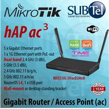 hAP ac3 RBD53iG-5HacD2HnD Mikrotik Gigabit WiFi Router Access Point ac