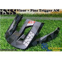 IXS Spare Parts Helmets Visor + Pins Trigger AM
