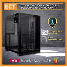 Tecware VXC TG Tempered Glass Dual Chamber ATX Casing Chassis - Black