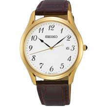 SEIKO Neo Classic Brown Leather SUR306P1 SUR306 Men Watch