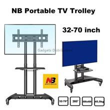 NB AVA1500-60-1P 32 to 70 Inch TV Trolley Stand Cart Mount 2650.1