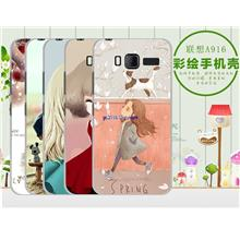Lenovo A916 Cartoon PC Plastic Hard Back Case Cover Casing