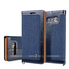 Samsung Note 8 S8 + Plus Jeans Flip Wallet Case Casing Cover