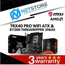 PWP MSI TRX40 PRO WIFI ATX & AMD RYZEN THREADRIPPER 3960X PROCESSOR