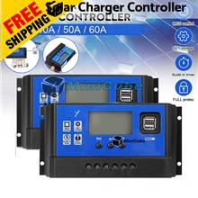 12V/24V 40A 50A 60A Solar Panel Battery Charger Controller Regulator