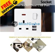 IREKE Dual USB Port 5V 2100MA Electric Wall Plug Power Socket Charger