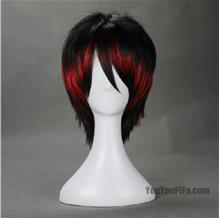 Cosplay men wig t8/ready stock/rambut palsu/lack red