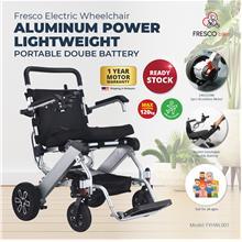 Electric Wheelchair Power Aluminum Lightweight Portable Double Battery