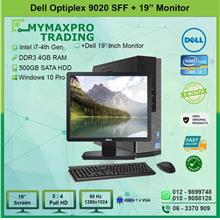 Dell Optiplex 9020 SFF i7 4th Gen 4GB 500GB HDD + 19' LED Monitor W10P