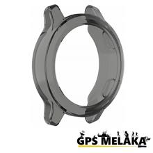 Soft Cover TPU Bezel Case Protector for Garmin Vivoactive 4 (Black)