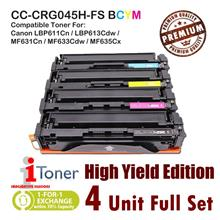 Canon 045H CRG045H High Yield Edition (4 Unit Full Set)