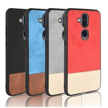 Nokia 8.1 X7 Dual Twi Color leather full business case casing cover