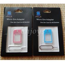 Enjoys: Micro Sim Adapter +Tray Ejector Pin for iPhone 4 4S new iPad 2
