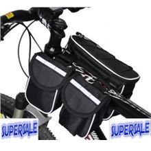 Bicycle Basikal Hiking Shoulder Phone Pocket Bag Beg Cycling 3 pocket