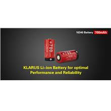 Klarus 16340 (RCR123) Li-ion 700mAh Performance Rechargeable Battery