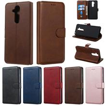Nokia 8.1 X7 leather flip wallet card slot case casing cover antidrop